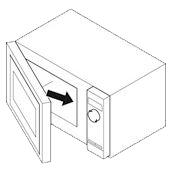 plaque signalétique micro-onde